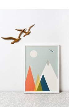 'Mountain Print' by Clare Nicholson