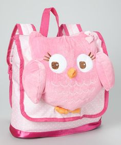 Look what I found on #zulily! Pink Owl Backpack #zulilyfinds