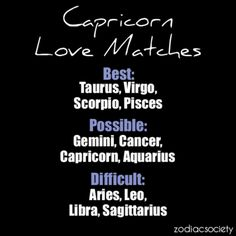 Capricorn matches