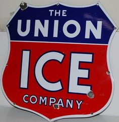 Large union shield-cut design for The Union Ice Company.