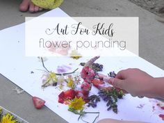 Summer Art Project for Kids: Plant Pounding
