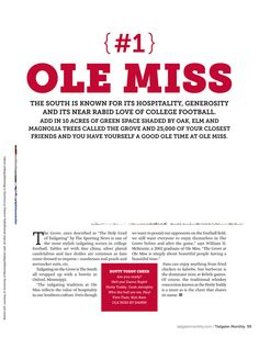 """""""The Grove at Ole Miss is simply about beautiful people having a beautiful time."""""""