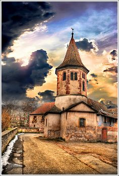 Weather change by Jean-Michel Priaux, via Flickr ~ Avolsheim - Alsace - France