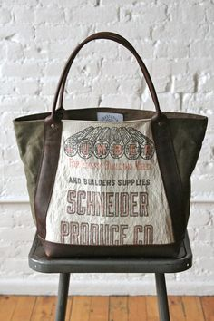 WWII era US Military Canvas and Lumber Apron Carryall