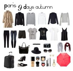 Travel light. Paris. 9 days. Autumn