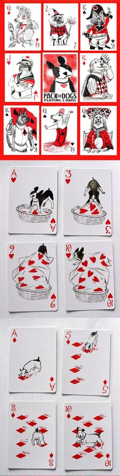 一捆狗撲克牌(http://www.artiphany.com/products/pack-of-dogs-playing-cards#):