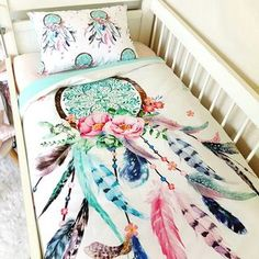 Dream Catcher Baby Bedding Best Cot Quilt ~ Dream Catcher Cotton Nursery Linen Baby Bedding Www Decorating Design