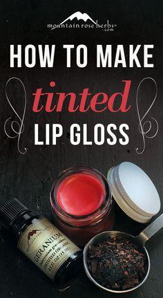 Best Beauty Diy Ideas :   Illustration   Description   DIY: Naturally tinted lip gloss recipe.    -Read More –   - #DIYBeauty