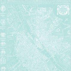 2a Map 12 Map 1654 Plan de Boisseau - free printable digital patterned paper set SAMPLE654 Plan de Boisseau (light turquoise) - free printable digital patterned paper