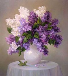 Lilacs, my favorite 😍 Beautiful Flower Arrangements, Floral Arrangements, Lilac Flowers, Beautiful Flowers, Purple Rose, Flower Vases, Flower Art, Lilac Painting, Illustration Blume