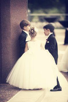 Elegant Little Flower Girl and Ring Bearer Attire ...♥