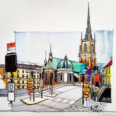 Markers + Color pencil #architecture #archisketcher #arquitetapage #arquisemteta #iarchitectures #papodearquiteto #archsketch #architecturelovers #sketch #art #drawing #drawing_pencile #colorpencil #arch_more #arch_sketch #arq_sketch #ar_sketch #arqpedia #creativempire #nationalart  #tamasketch #stockholm #sweden