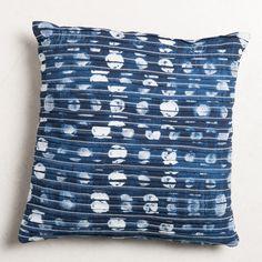 Kussen, katoen/canvas, blauw, 45 x 45 cm