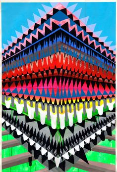 I am such a massive fan of Maya Hayuk. Her use of color, shape and lines always suck me in and inspire me not only on a creative level but an emotional one as well. Maya Hayuk, Graffiti, Street Art, Artist Project, Op Art, Geometric Art, Art And Architecture, Art School, Art Images