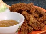 Orange Beef Strips with Orange Dipping Sauce Recipe : Paula Deen : Food Network Sauce Recipes, Beef Recipes, Chicken Recipes, Cooking Recipes, Recipies, Beef Meals, Family Recipes, Bottom Round Steak Recipes, Orange Beef