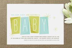 Retro Baby Baby Shower Invitations by annie clark at minted.com