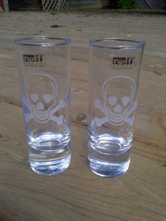 Skull Cordial Glasses