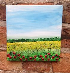 """ARTFINDER: """"Remember Them"""" by Lucy Moore - Here is a 20x20 Canvas Poppy Landscape  The remembrance poppy  has been used since 1921 to commemorate soldiers who have died in war. Inspired by the World..."""
