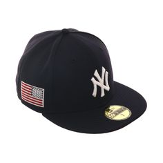 05d001455fd Exclusive New Era 59Fifty New York Yankees USA Flag w  Red Undervisor Hat -  Navy