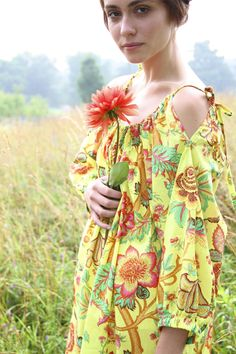 Amy Butler's Soul Blossoms Fabrics with The Drawstring Dress from Sew Red