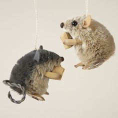 Buri Sitting Mouse Ornament - $5.50 (for 1) _________________________ http://www.amazon.com/dp/B003WNIHAW/?ref=cm_sw_r_pi_dp_lGNZub0KRAJPM ($17.65 for set of 2) ____________________________ http://www.christmasdove.com/25in-BURI-SITTING-MOUSE-WCHEESE-2A_p_71486.html  ($7.99)