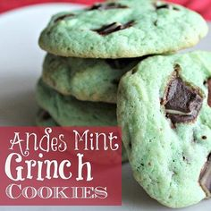 Mint Chocolate Grinch Cookies