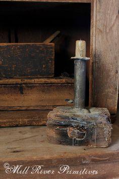 Primitive MakeDo Hog Scraper Candle Early by MillRiverPrimitives, $125.00