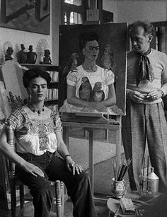 Frida Kahlo y Nickolas Muray....this photo shows how much pain she was in...how sad, how sad...I cry...