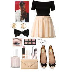 Cream Skirts and Black Bows by fasha0903 on Polyvore featuring polyvore, fashion, style, Miss Selfridge, Band of Outsiders, Oasis, Carré Royal, Michael Kors, Bobbi Brown Cosmetics, Topshop, Maybelline and Essie