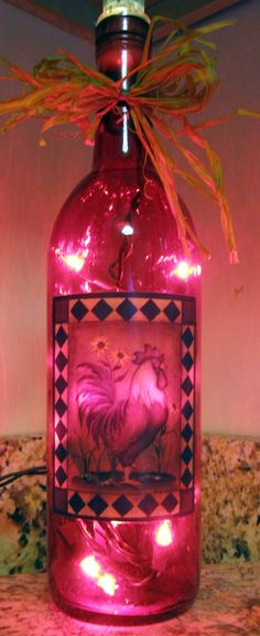 Hey, I found this really awesome Etsy listing at https://www.etsy.com/listing/91413601/lighted-bottle-rooster-decor