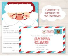 "Write a letter to Santa this year with our ""Letter to Santa Kit"", everything you need to write a very special letter to Santa Claus this year! #busylittlebugs #christmas #printables #santaletter"