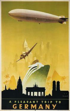 Germany travel poster art by Jupp Wiertz (1888-1939)