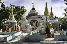 Entrance to the monastery in Mandalay ,Myanmar (Burma)