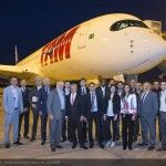 TAM Airlines' first Airbus A350 XWB lands in Brazil