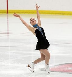 Courtney Hicks, Ladies short at U.S. International Classic, Black Figure Skating / Ice Skating dress inspiration for Sk8 Gr8 Designs