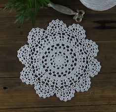 10 PCS Handmade Crocheted Doilies Round  White by ColoredHome