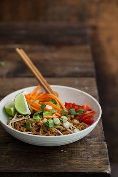 "Vegan Pad Thai (with homemade ""fish"" sauce) - Naturally Ella"