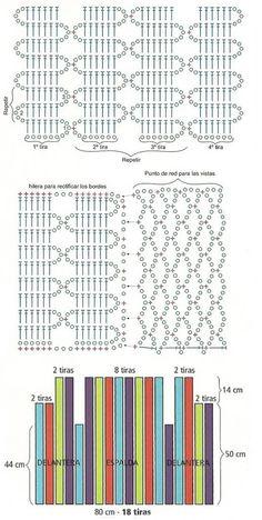схемы узоры вязание жилет