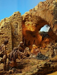 1 million+ Stunning Free Images to Use Anywhere Christmas Cave, Christmas Nativity Scene, A Christmas Story, Winter Christmas, Nativity Scenes, Diorama, Nativity Painting, Fontanini Nativity, Nativity Stable
