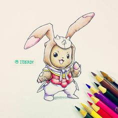 Artist: Itsbirdy | Digimon | Lopmon