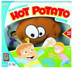 It's the wild musical tater-tossing game. Squeeze the Hot Potato and the frantic family fun begins. Toss the tater back and forth, up high, down low, and around and around, but don't get caught holding the spud when the music stops! Ages 4 and up! #games
