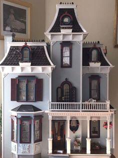 Hand-made-Beacon-Hill-VICTORIAN-artisan-built-wood-dollhouse