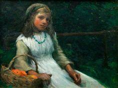 The Orange Girl by Harold Harvey (1874-1941)