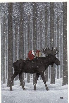 Maudjesstyling: Eva Melhuish. Swedish Would make a great christmas card !~! I LOVE the animals in this series: