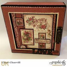 Vintage Valentine Album in a Box 1 Clare Charvill Graphic 45
