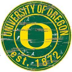 "Kohl's Oregon Ducks Distressed 24"" x 24"" Round Wall Art"