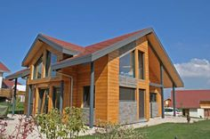 Maison de c dre on pinterest bricolage construction and - Maison bois et pierre ...