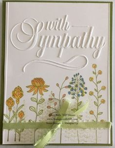 Darice Embossing Folder and Stampin Up Flowering Fields Making Greeting Cards, Greeting Cards Handmade, Making Cards, Stamping Up Cards, Rubber Stamping, Embossed Cards, Beautiful Handmade Cards, Paper Cards, Cards Diy