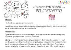 Je commence comme le … monstre – MC en maternelle