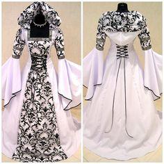 New Medieval Victorian Renaissance Gothic Wedding Dress Vampire Cosplay Costume Hot. cosplay from top store Renaissance Wedding Dresses, Costume Renaissance, Medieval Wedding, Gothic Wedding, Vampire Wedding, Geek Wedding, Wedding Dress Costume, Costume Dress, Dress Wedding